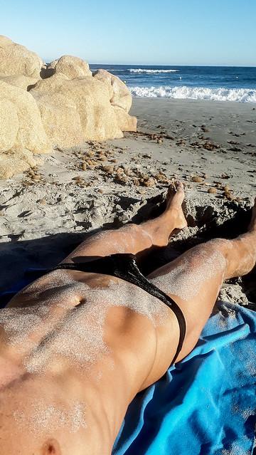 sand on my skin
