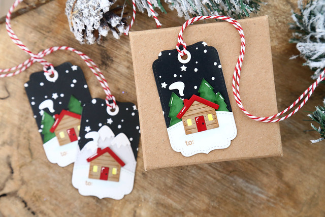 25 days of Christmas tags (with Lawn Fawn!)