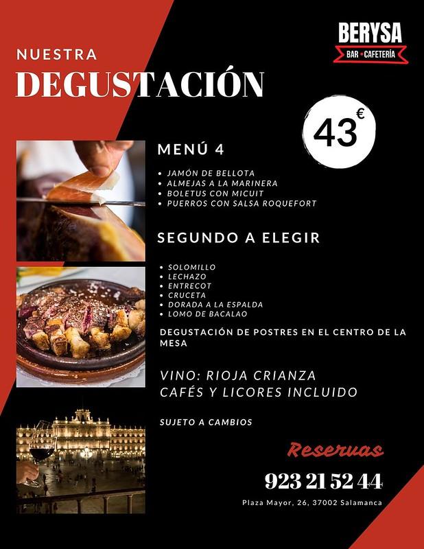 Menú del Berysa para cenas y comidas.  (6)