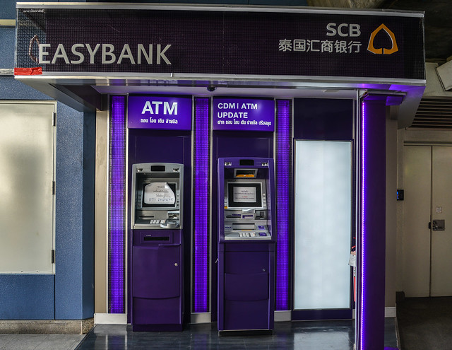 ATM machines at business district