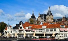 Cityscape of Amsterdam, Holland