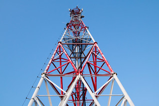 Cell tower and a perfect blue sky in the background | by Ivan Radic