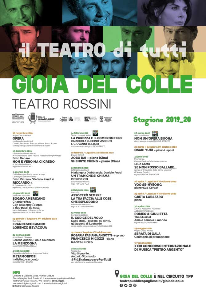 stagione teatrale Rossini 2019/2020