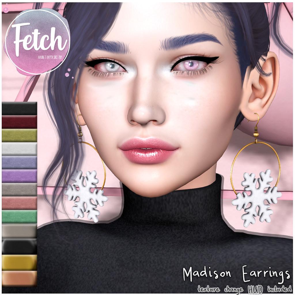 [Fetch] Madison Earrings @ Tannenbaum!