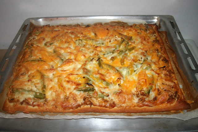 52 - Chicken Fajita Pizza - Fertig gebacken / Finished baking