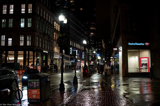 A rainy November night in the city