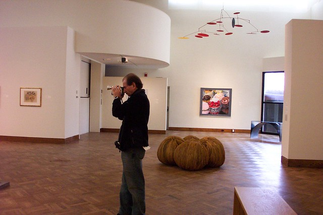 Oberlin Ohio - Allen Memorial Art Museum - Known as a Video artist at work by his wife only .