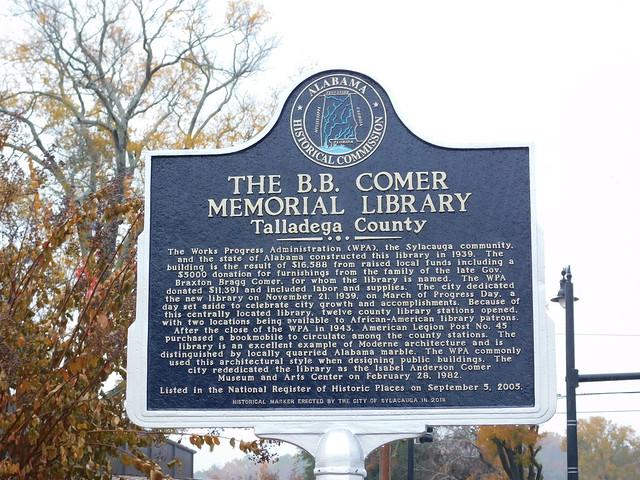 BB Comer Memorial LibraryMarker