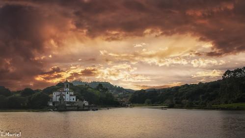 sunset ocaso atardecer sky colours clouds cielo asturias llanes landscape outdoors paisaje