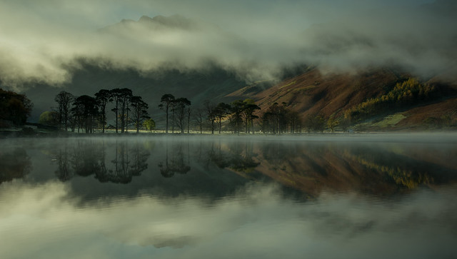 Buttermere Sentinels framed in mist