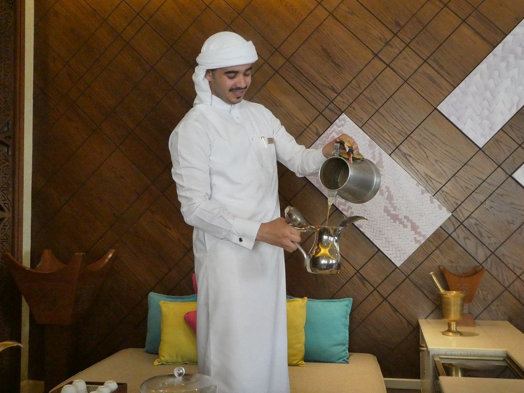 Arabic Coffee in the Souq Waqif Boutique Hotel