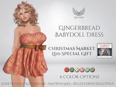 [Ari-Pari] Gingerbread Babydoll Dress