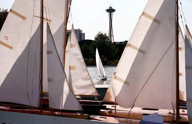 Model boats on the pond at South Lake Union