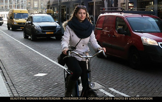 BEAUTIFUL AMSTERDAM WOMAN ON BICYCLE - 2019 | by lindenhud1