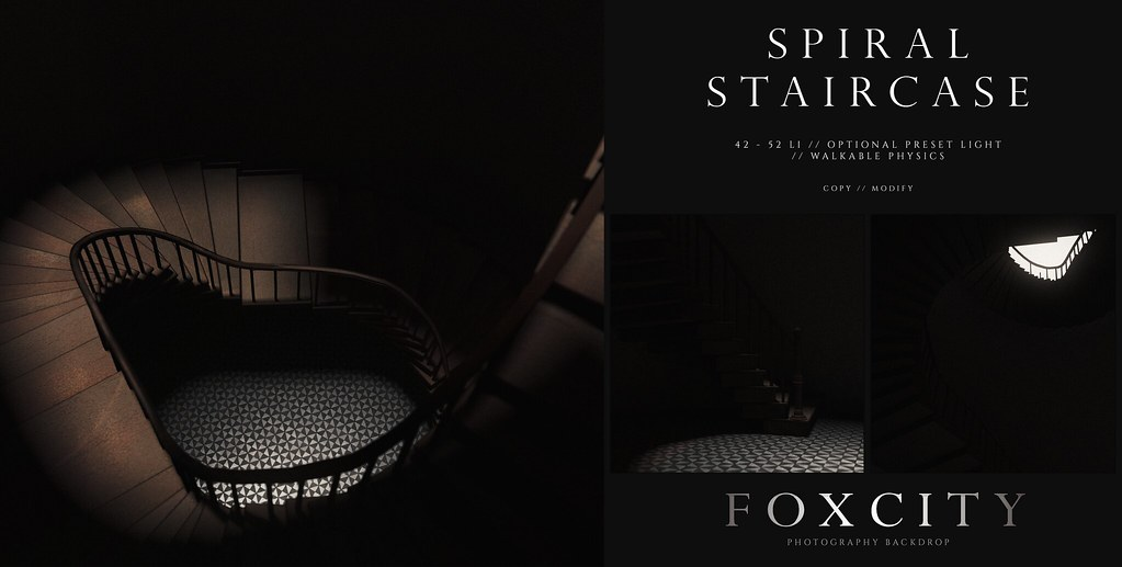 FOXCITY. Photo Booth – Spiral Staircase