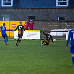 Fraser Forbes (10) fires in the Lossiemouth equaliser
