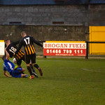 Bradley Manson (18) is fouled in the build-up to the Lossiemouth equaliser