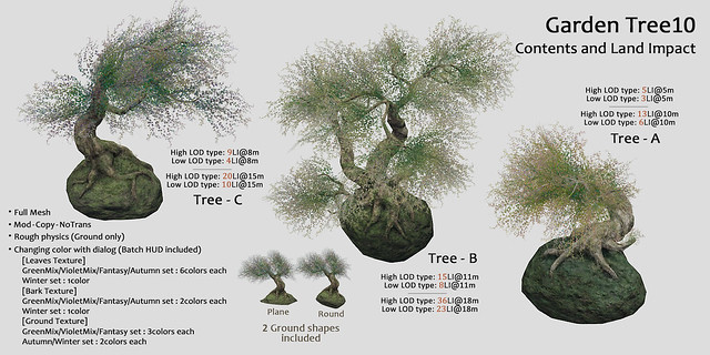HPMD* Garden Tree10 - Contents and Land Impact