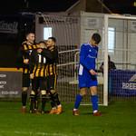 Declan Milne, Nathan Meres & Paul Esslemont celebrate the winning goal