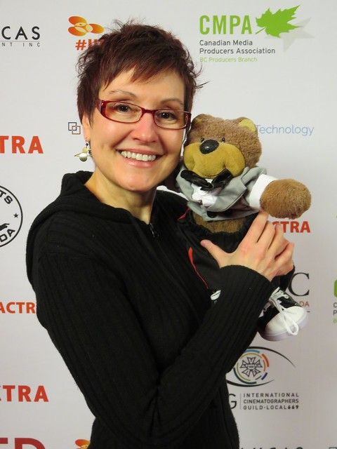 Mitzi Szereto and Teddy Tedaloo at UBCP/ACTRA Awards in Vancouver