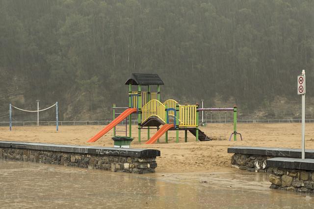 ¡Vaya, vaya! Hoy no hay playa