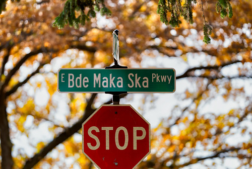 Bde Maka Ska Parkway Street Sign, Minneapolis | by Tony Webster