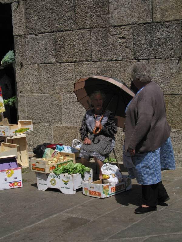 Venditori locali al mercatro di Santiago