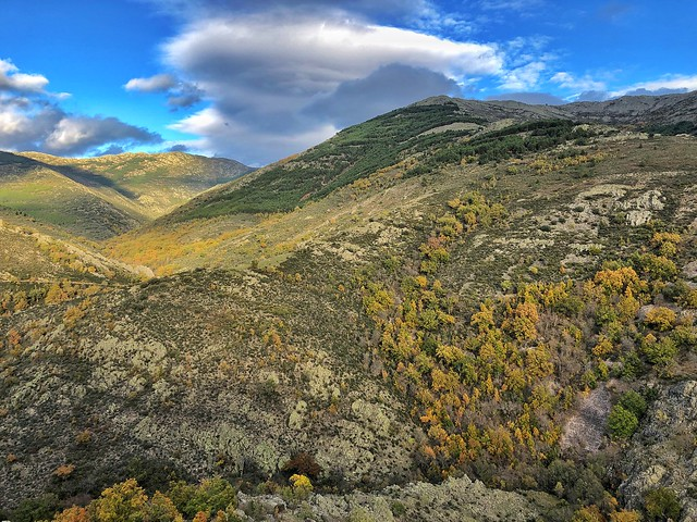 Paisaje de la Sierra del Rincón (Sierra Norte de Madrid)