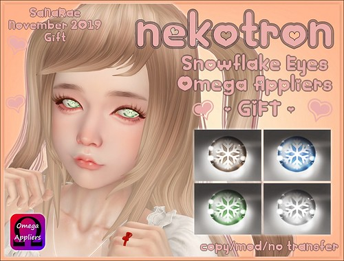 [Nekotron] Snowflake Eyes (Omega Appliers) GIFT
