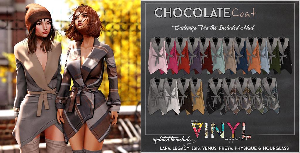 VINYL - Updated Chocolate Tartan Coat