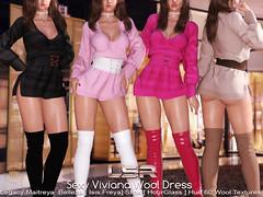Sexy Viviana Wool Dress