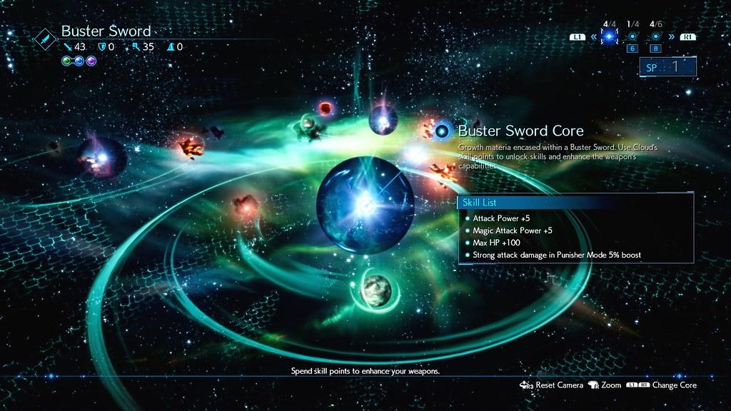 Final Fantasy VII Remake Materia upgrades