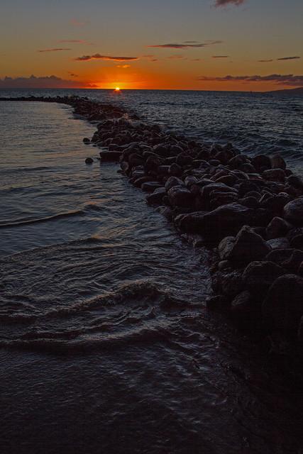 fishpond sunset