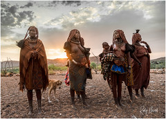 Vignette of a Himba Village