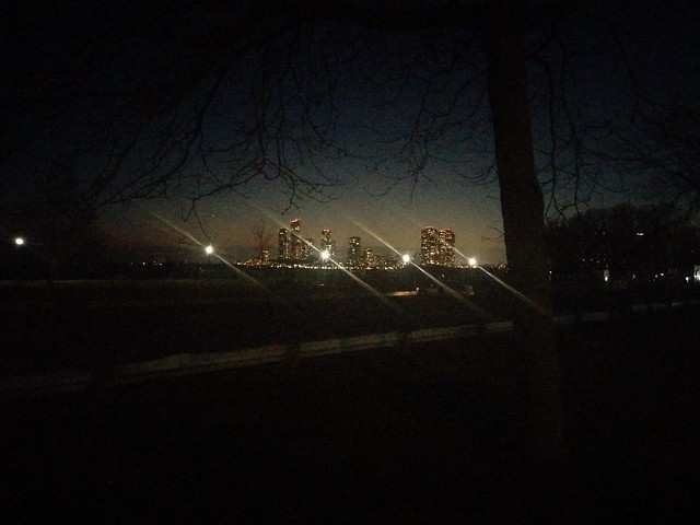 Looking west at Humber Bay Shores #toronto #lakeontario #humberbayshores #humberbay #sunnyside #lights #night #towers #skyline
