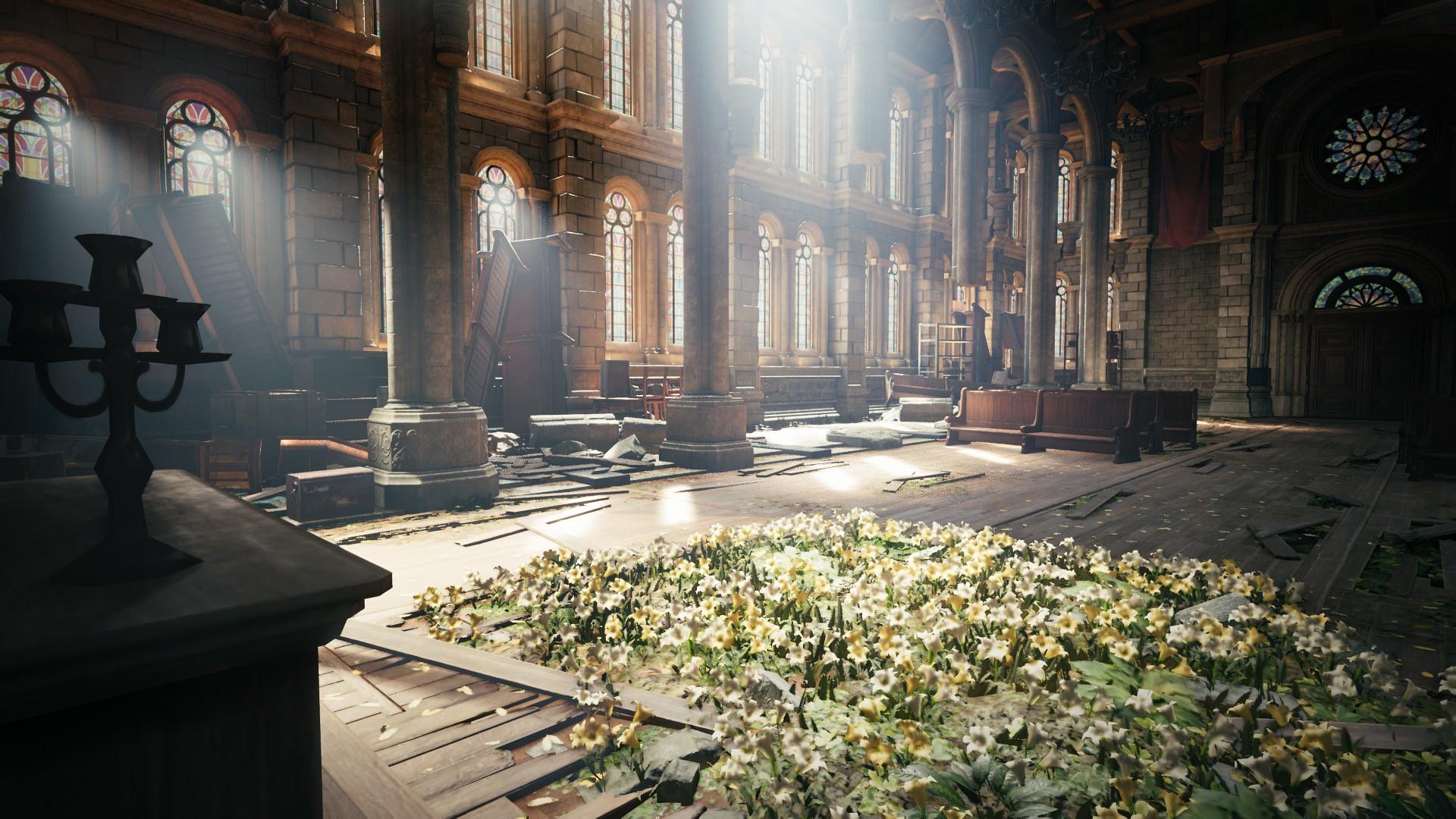 Final Fantasy VII Remake church