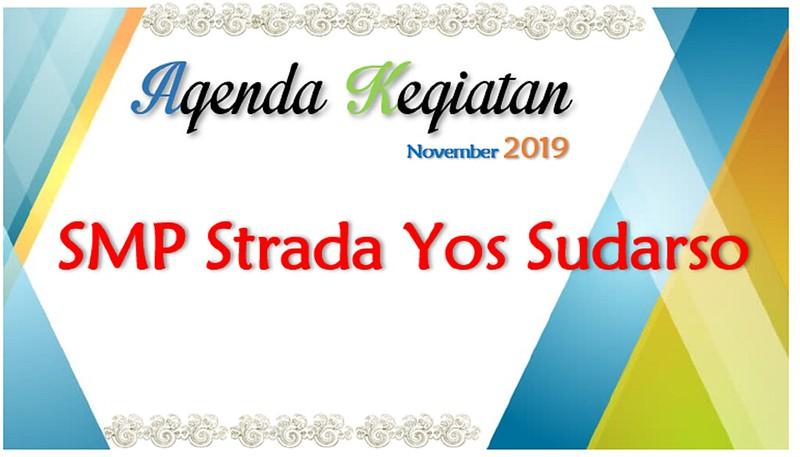 Agenda Kegiatan Sekolah Bulan November 2019