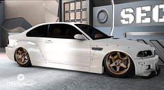BMW  E46 M3  widebody peantbutter cream