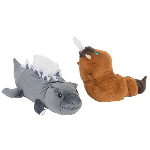 衛生紙攻擊!SUN-STAR 哥吉拉/摩斯拉幼蟲 衛生紙套(ゴジラ ゴジラティッシュケース/モスラ幼虫ロールペーパーケース)全2種