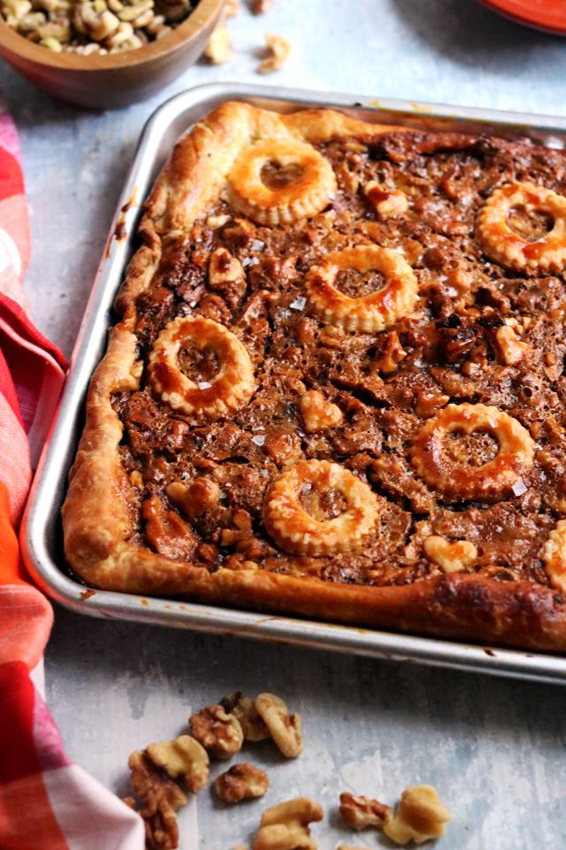 Walnut Baklava Slab Pie
