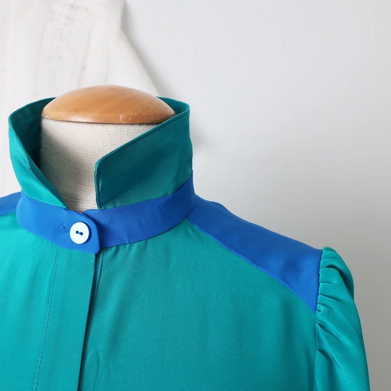 green shirt sleeve and yoke