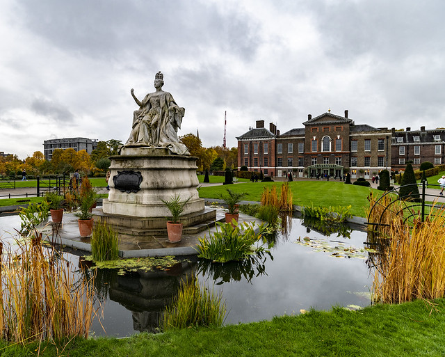 Queen Victoria Statue at Kensington Palace, Hyde Park, London, England, United Kingdom