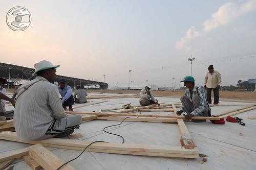 Preparation of Samagam Gate