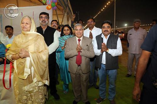 Raj Kumari Ji, EC Member with Press staff