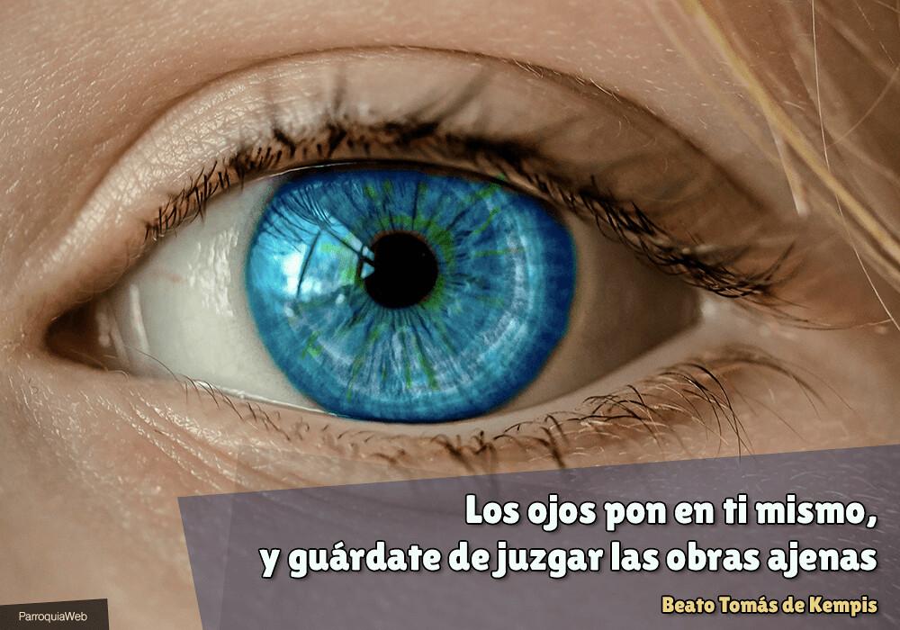 Los ojos pon en ti mismo, y guárdate de juzgar las obras ajenas - Beato Tomás de Kempis