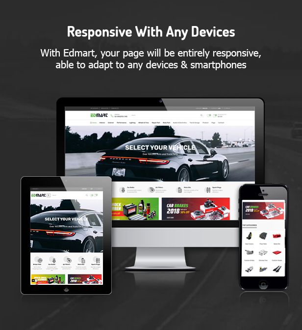 Edmart - Premium Auto Parts Prestashop Theme