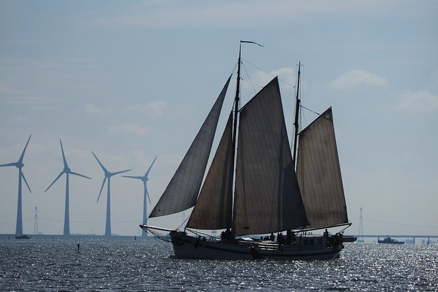 Segelschiff auf dem Ijsselmeer, Holland.