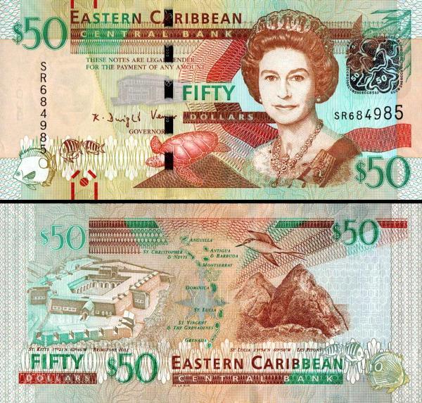 50 Dolárov Východný Karibik 2016, P54b