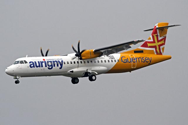 Aurigny Air Services ATR 72-600 F-WWEN (G-OATR) TLS 22-10-19