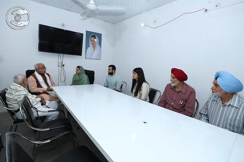 A meeting with Shri Manhor Lal Khattar, CM, Haryana